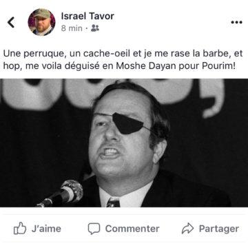 Il veut se déguiser en Moshe Dayan à Pourim et se retrouve habillé en Le Pen