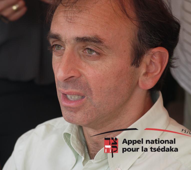 Eric Zemmour, parrain du Gala de la Tsédaka 2019