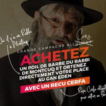 Un CERFA de déduction fiscale pour l'achat d'un poil de la barbe du rabbin de Montcuq