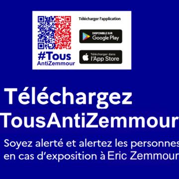 Le gouvernement français lance l'application #TousAntiZemmour